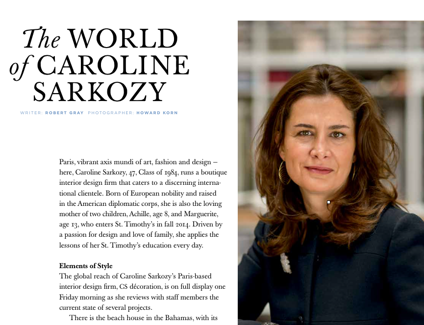 The World of Caroline Sarkozy