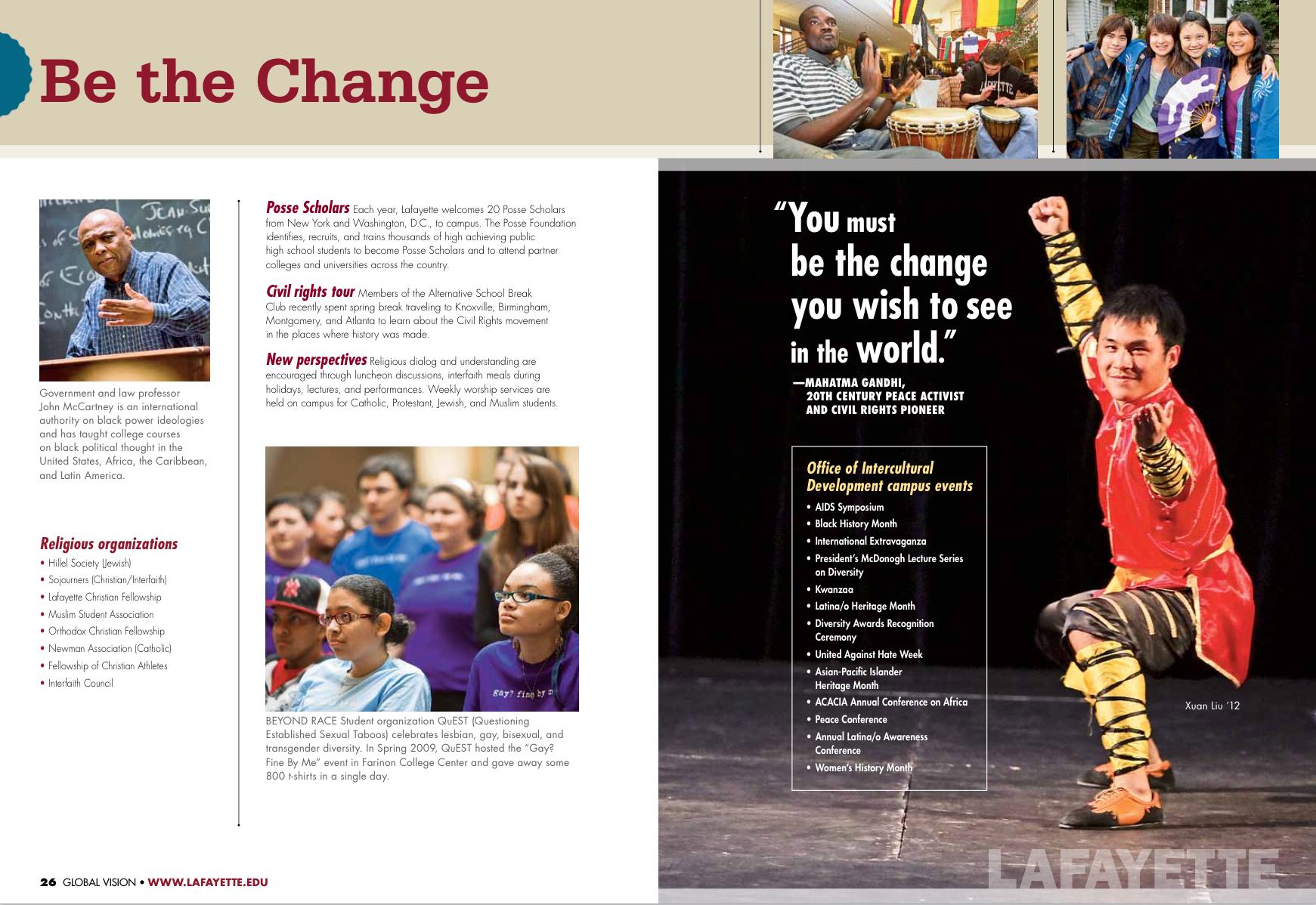 Lafayette College viewbook