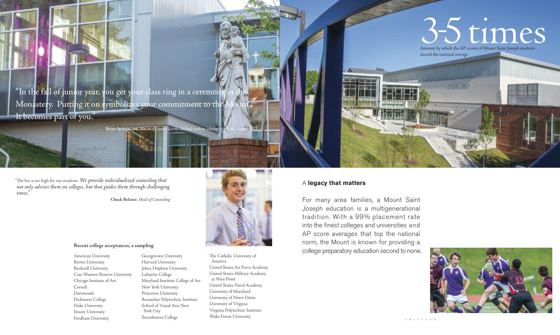 Mount Saint Joseph High School admissions