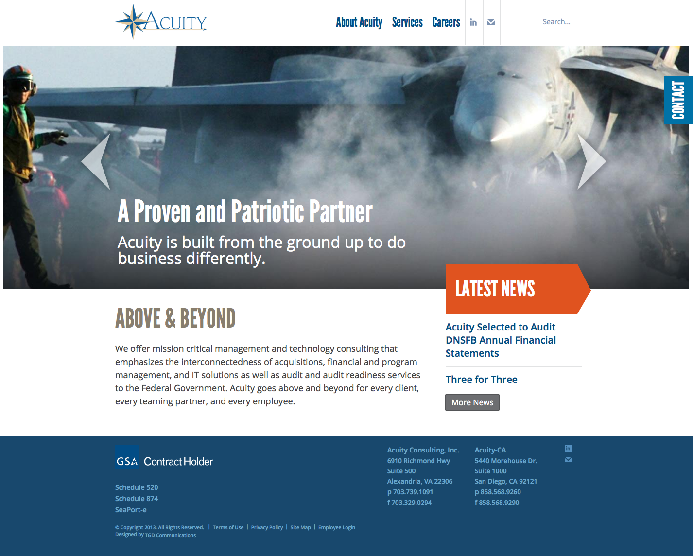 Acuity Consulting website