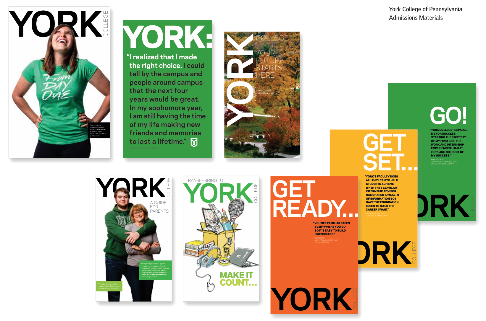 York College branded admissions campaign